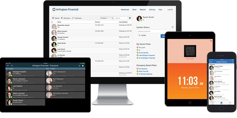 The Easiest To Use Employee In Out Board Software Simple In Out